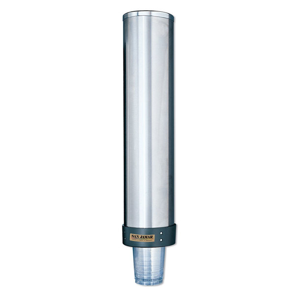 San Jamar C3500P Pull Type Cup Dispenser 32 oz. - 46 oz.