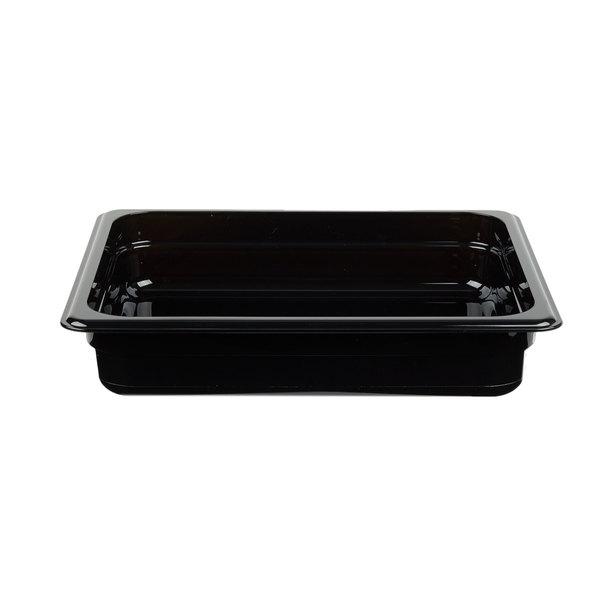Cambro 22HP110 H-Pan 1/2 Size Black High Heat Food Pan - 2 1/2 inch Deep