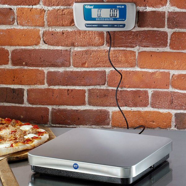 Edlund EPZ-20 20 lb. Digital Pizza Scale with Remote Display