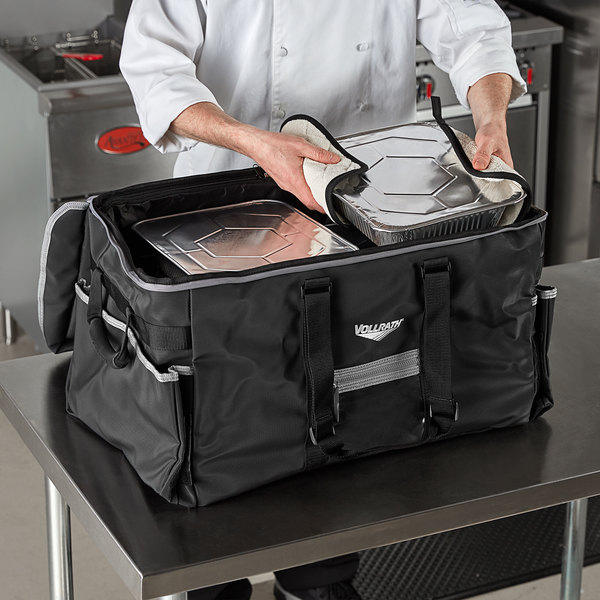 """Vollrath VCBL5P00 5-Series Large Insulated Food Pan Carrier / Catering Bag with Power Pack, 23"""" x 15"""" x 14"""" - Holds (3) Full Size Food Pans Main Image 3"""