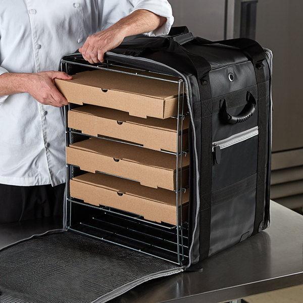 """Vollrath VTBW500 5-Series Insulated Tower Bag with Wire Insert and Heating Pad, 18"""" x 17"""" x 22"""" - Holds (10) 16"""" Pizza Boxes Main Image 3"""