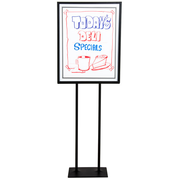 "22"" x 28"" White Marker Board with Stand BST002-BK/RMB2228-WH"