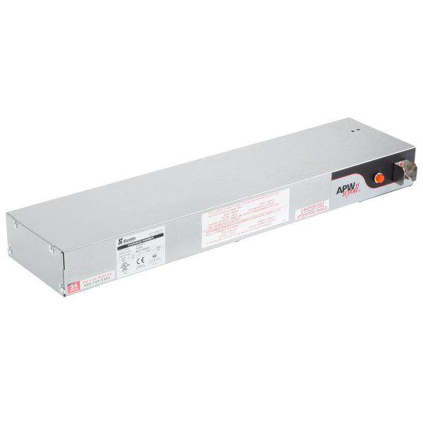 """APW Wyott FD-24H-T 24"""" High Wattage Calrod Food Warmer with Toggle Controls - 120V, 575W"""