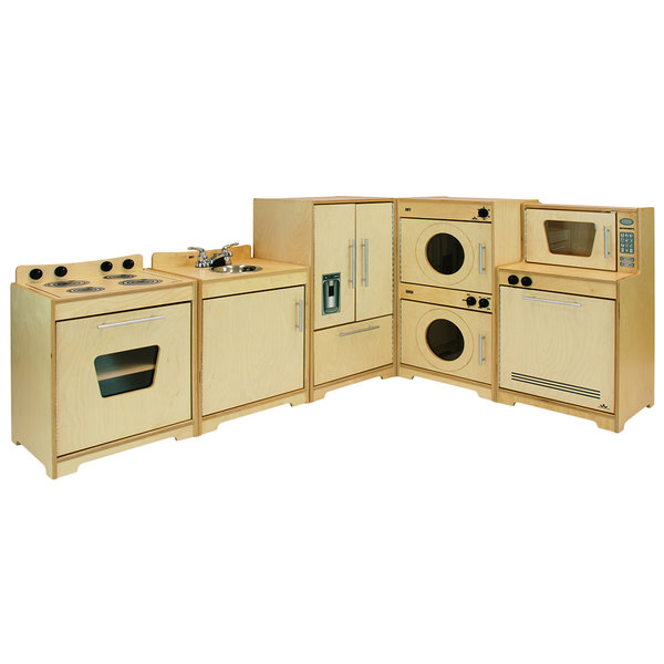 Whitney Brothers Wb6400n 95 X 15 X 35 Contemporary Children S Complete Natural Wood Kitchen Set