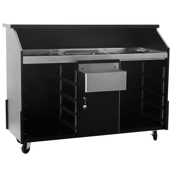 Eagle Group DPB-5R Deluxe Portable Bar with Locking Right Cabinet and Two Speed Rails Main Image 1
