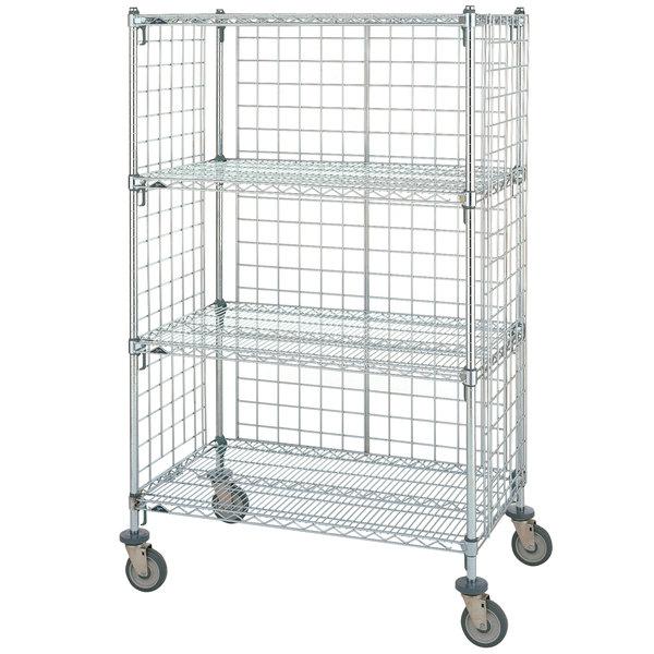 metro super erecta ast65dc chrome wire slanted shelf cart