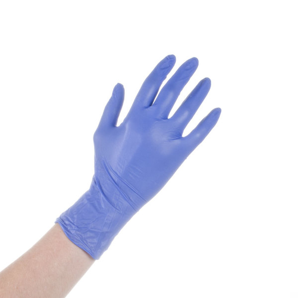 Case of 1000 (10 Boxes of 100) Noble Products Nitrile 4 Mil Thick Low Dermatitis Textured Gloves - Medium