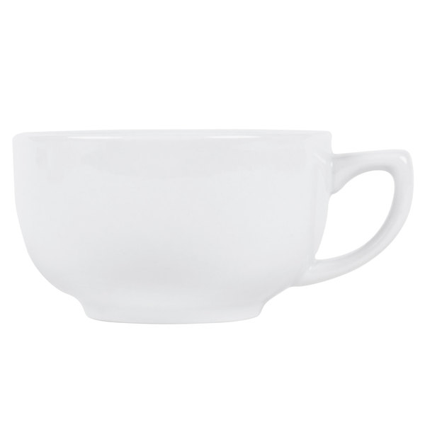CAC RCN-56 Clinton 14 oz. Super White Porcelain Cappuccino Cup - 36/Case Main Image 1