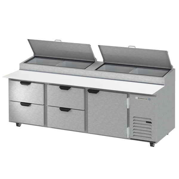 """Beverage-Air DPD93HC-4 Hydrocarbon Series 93"""" 4 Drawer Pizza Prep Table Main Image 1"""