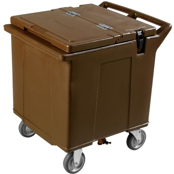 Carlisle IC225001 Brown Cateraide 125 lb. Mobile Ice Caddy Main Image 1