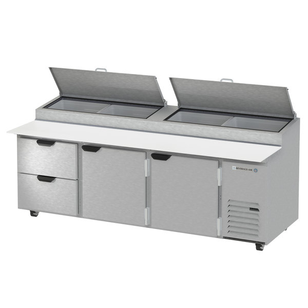 """Beverage-Air DPD93HC-2 Hydrocarbon Series 93"""" 2 Drawer Pizza Prep Table Main Image 1"""