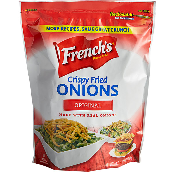 French's 24 oz. Crispy Fried Onions - 6/Case Main Image 1