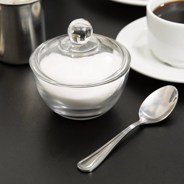Anchor Hocking 64192B 8 oz. Glass Sugar Bowl with Lid - 4/Case