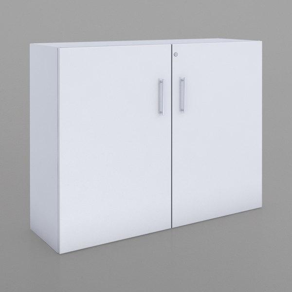 Whitney Brothers Wb0658 50 X 15 38 1 2 White Melamine Lockable Storage Cabinet