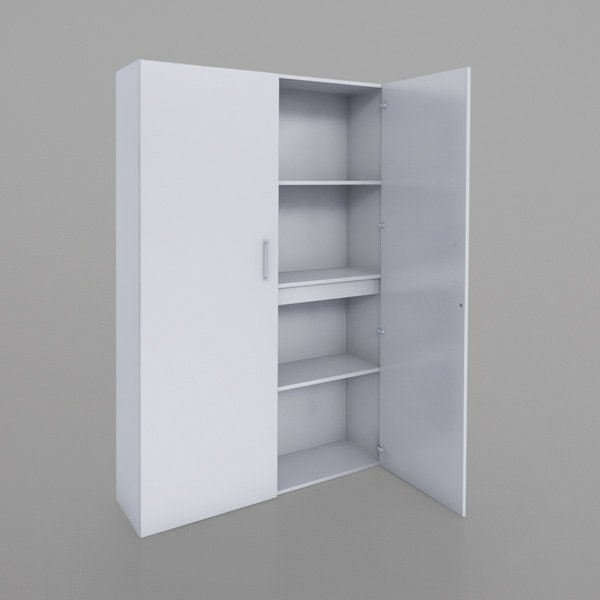 Whitney Brothers Wb0665 50 X 15 77 1 4 White Melamine Tall And Wide Storage Cabinet