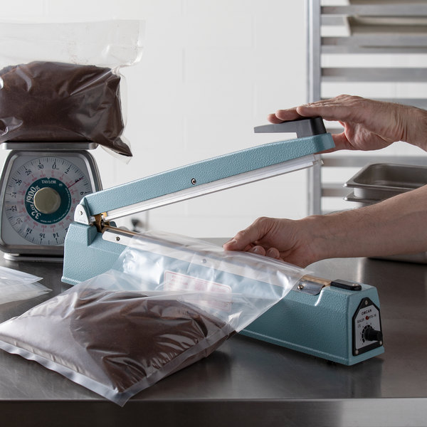 "16"" Manual Impulse Bag Sealer with Timer - 110V Main Image 2"