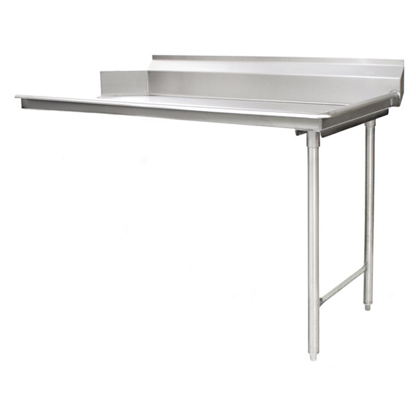 """Eagle Group CDTR-60-14/3 Spec-Master 60"""" Right Side 14 Gauge 304 Series Stainless Steel Clean Dish Table Main Image 1"""