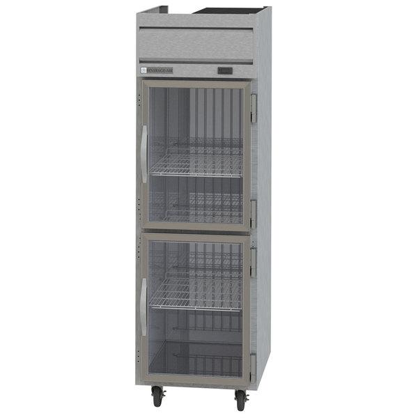 "Beverage-Air HF1-1HG Horizon Series 26"" Top Mounted Half Glass Door Reach-In Freezer Main Image 1"