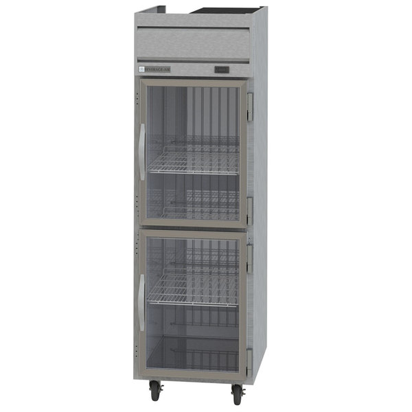 "Beverage-Air HR1-1HG Horizon Series 26"" Top Mounted Half Glass Door Reach-In Refrigerator"