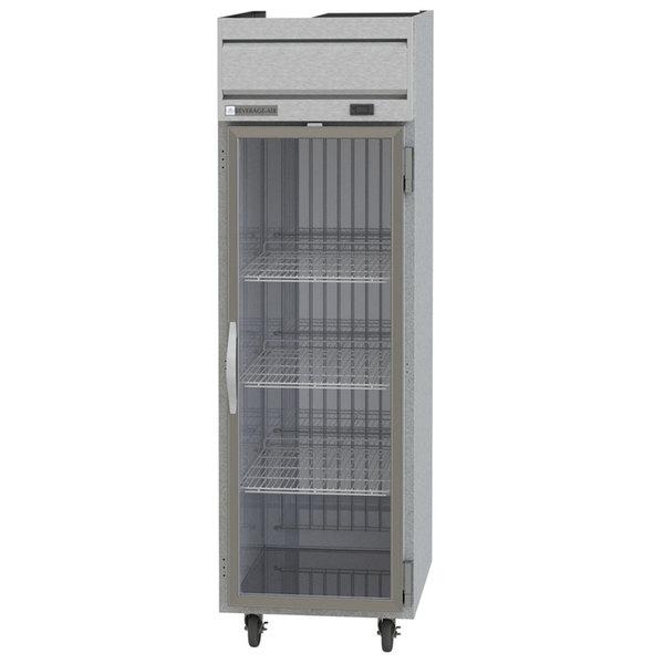 "Beverage-Air HF1HC-1G Horizon Series 26"" Top Mounted Glass Door Reach-In Freezer Main Image 1"