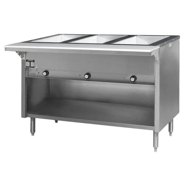 Eagle Group HT3OB-240-3 Spec Master Series Three Pan Open Well Electric Hot Food Table with Open Front - 240V, 3 Phase Main Image 1