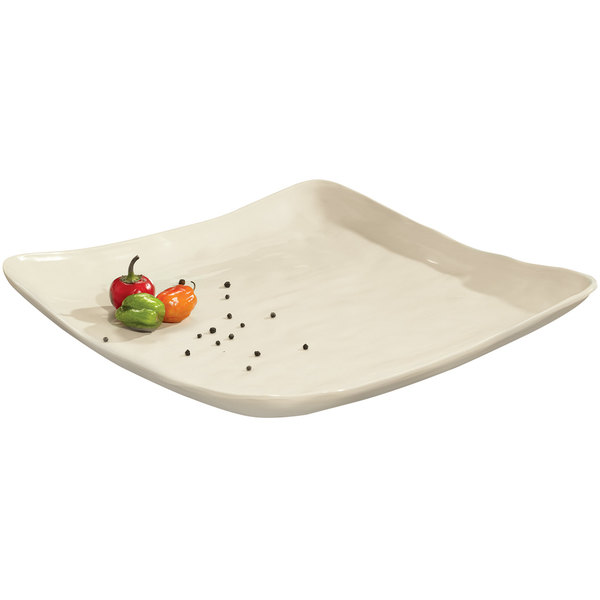 "GET ML-143-IV New Yorker 16"" Ivory Square Serving Platter"