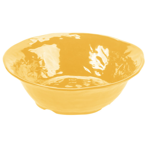 GET ML-134-TY New Yorker 6.5 Qt. Tropical Yellow Round Catering Bowl