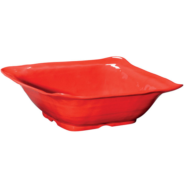 GET ML-132-R New Yorker 6 Qt. Red Square Catering Bowl