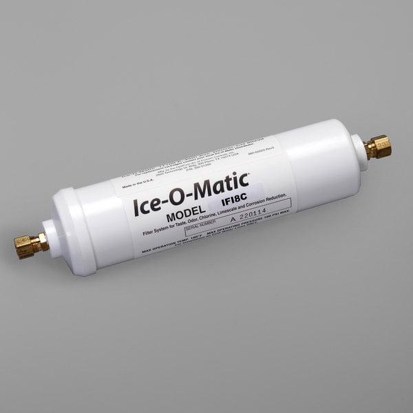 "Ice-O-Matic IFI8C Inline Single Ice Machine Water Filter Cartridge - 10 Micron and 0.5 GPM, 1/4"" Compression Main Image 1"