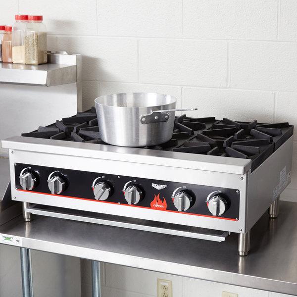 Vollrath 40738 6 Burner Counter Top Hot Plate / Range Natural / LP Gas
