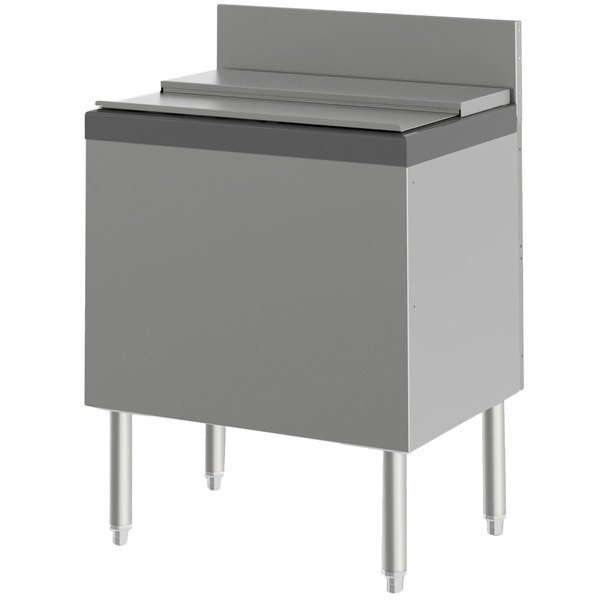 "Perlick TS24IC-EC10 24"" Extra Capacity Ice Chest with 10-Circuit Cold Plate - 75 lb. Capacity"