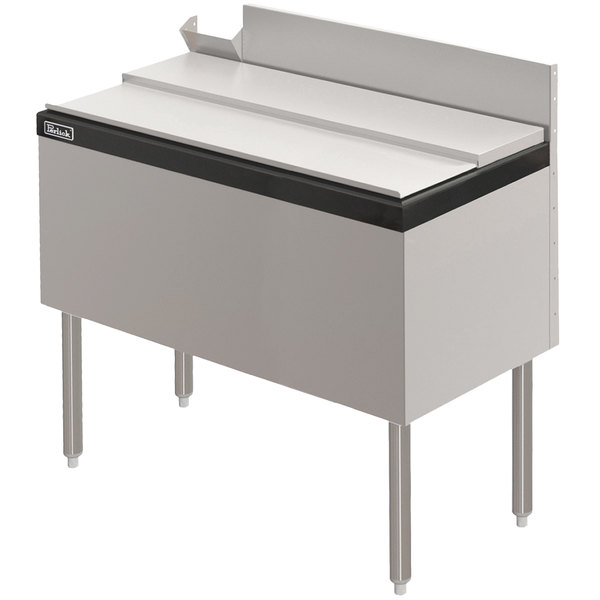 """Perlick TS42IC 42"""" Stainless Steel Ice Chest - 100 lb. Capacity"""