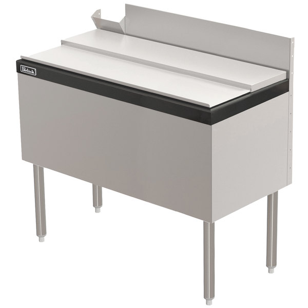 "Perlick TS42IC10 42"" Stainless Steel Ice Chest with 10-Circuit Cold Plate - 100 lb. Capacity"