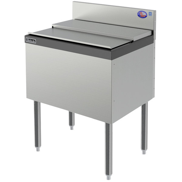 """Perlick TS18IC 18"""" Stainless Steel Ice Chest - 35 lb. Capacity"""