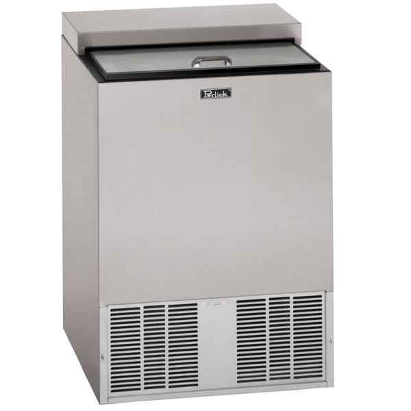 """Perlick BC24RT 24"""" Stainless Steel Horizontal Flat Top Bottle Cooler"""