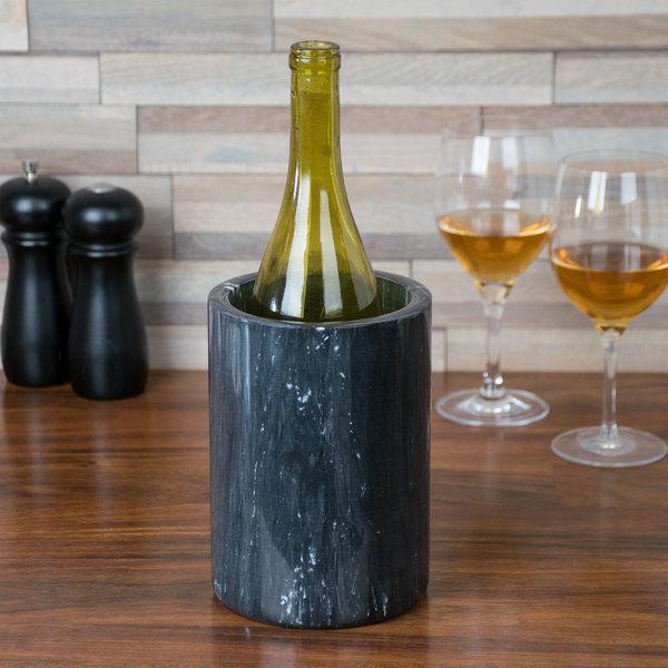 "Tablecraft 5488 Black Marble Wine Cooler - 7"" x 5"" Main Image 5"