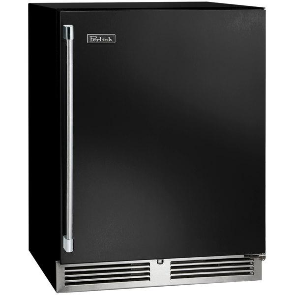 "Perlick HB24RS 24"" Black ADA Compliant Single Door Undercounter Refrigerator"