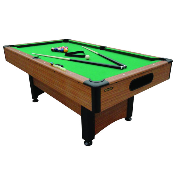 Mizerak p1253w pool table w accessories 6 1 2 39 - Space needed for pool table ...
