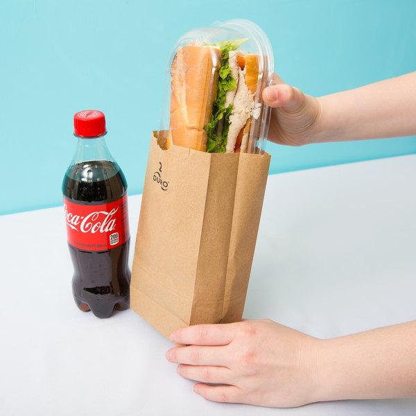 Duro 2 lb. Brown Paper Bag - 500/Bundle