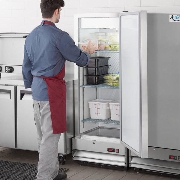 """Avantco A-12R-HC 25"""" Solid Door Reach-In Refrigerator Main Image 6"""