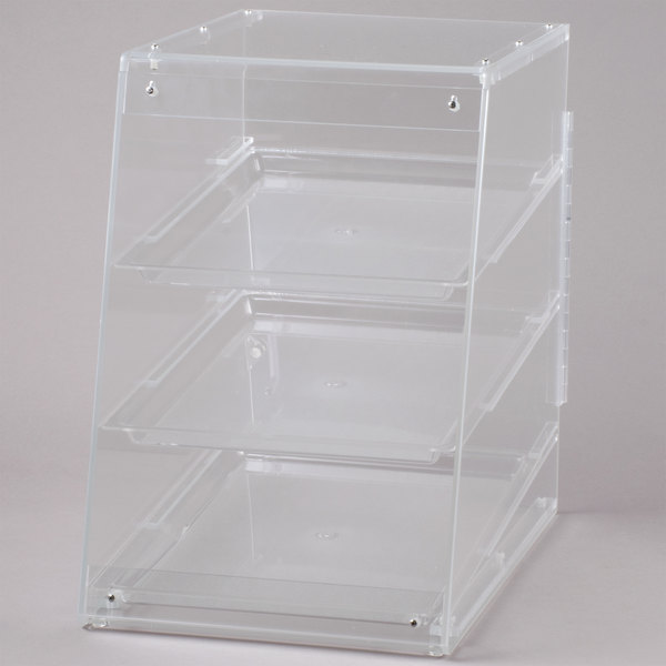 Cal-Mil 941 Classic U-Build Three Tier Acrylic Display Case with Rear Door- 13 1/2 inch x 22 inch x 21 inch
