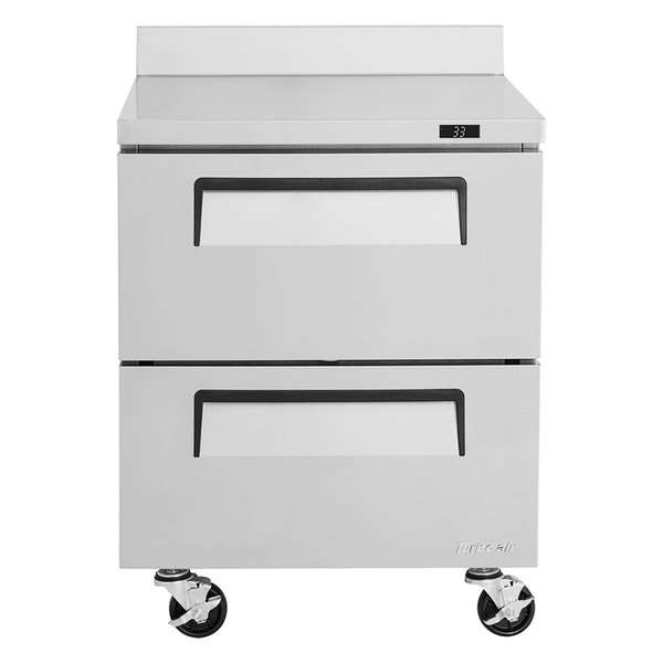 "Turbo Air TWR-28SD-D2-N Super Deluxe 27"" Worktop Refrigerator with Two Drawers Main Image 1"