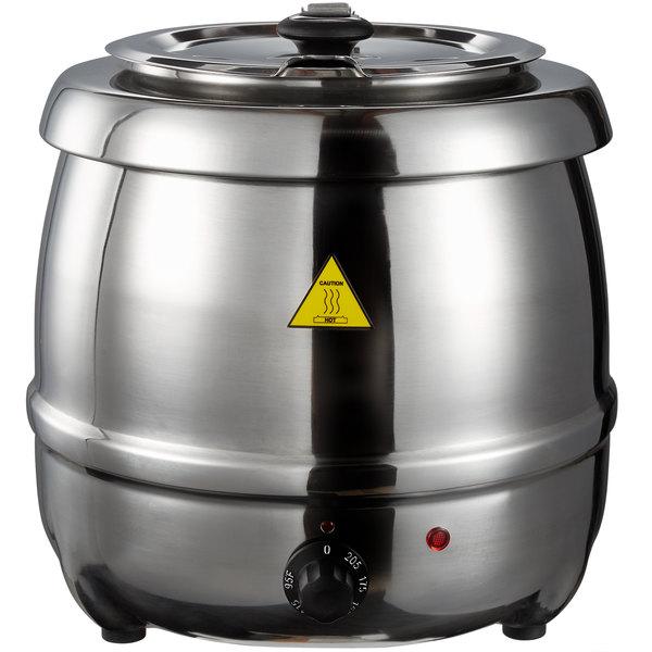 Tomlinson 10.5 Qt. Glenray® Kettle Stainless Steel Countertop Food / Soup Kettle Warmer - 120V, 400W