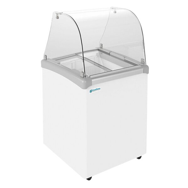 """Excellence EDC-4CHC 25"""" Curved Glass Ice Cream Dipping Cabinet Main Image 1"""