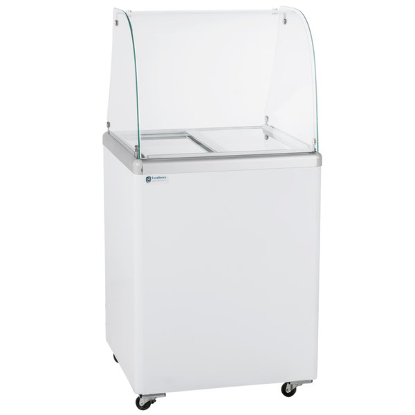 "Excellence EDC-4CHC 25"" Curved Glass Ice Cream Dipping Cabinet"