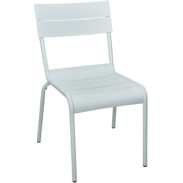 BFM Seating PH812CWH Beachcomber White Aluminum Outdoor / Indoor Side Chair Main Image 1
