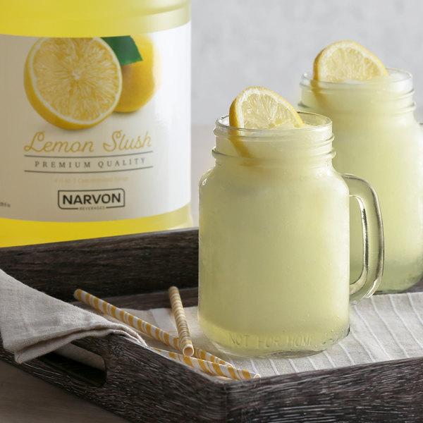 Narvon 1 Gallon Lemon Slushy Syrup Main Image 2