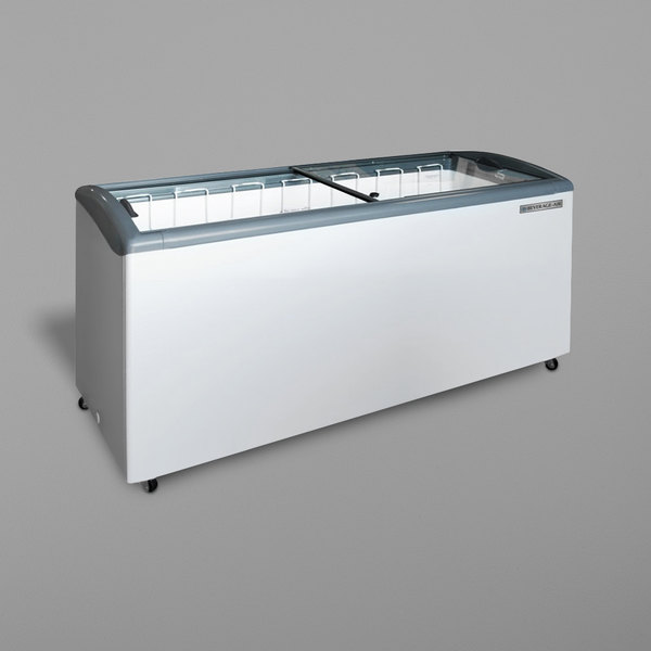 "Beverage-Air NC68HC-1-W 6813/16"" Curved Lid Novelty Display Freezer Main Image 1"