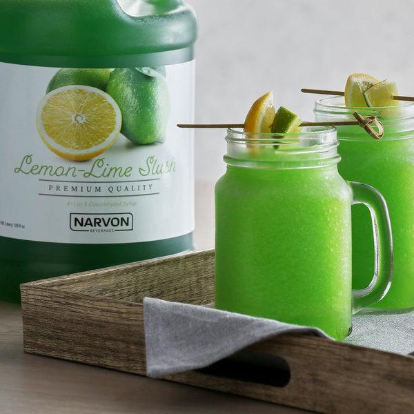 Narvon 1 Gallon Lemon Lime Slushy Syrup Main Image 2