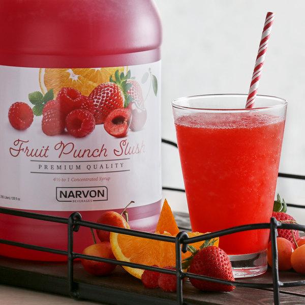 Narvon 1 Gallon Fruit Punch Slushy Syrup Main Image 2